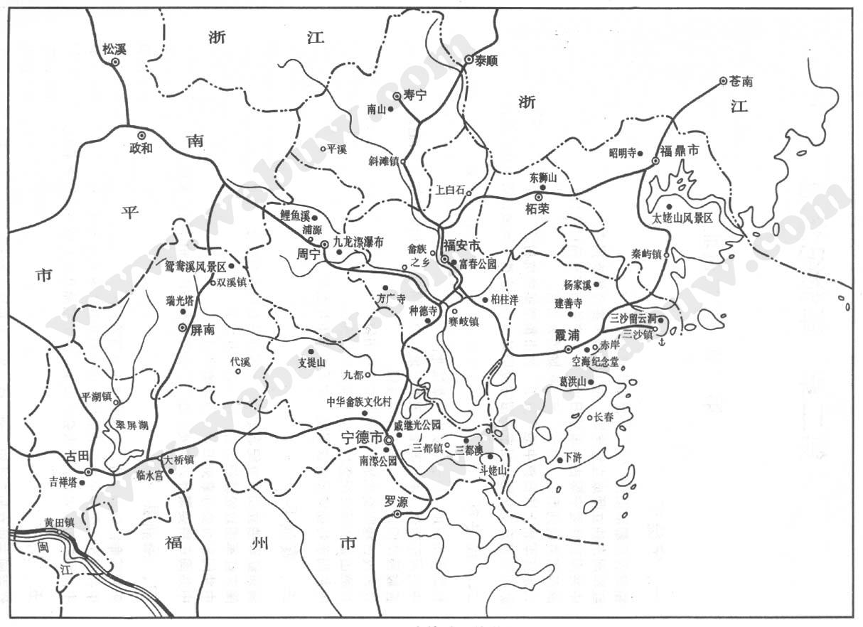温州旅游手绘地图