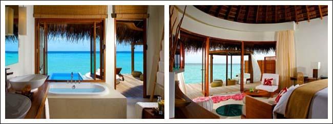 1.海滩绿洲 Beach Oasis 特点:海滨 私人按摩池 两张沙发床 烧烤站 在188平米的热带天堂中尽享惬意逍遥。 在阳光露台上沐浴马尔代夫的和煦日光,或在私人白色沙滩上悠然漫步。 在高悬于私人按摩池上的圆形躺椅上慵懒地舒展四肢。室内,在特大 W 特色睡床上酣然入梦。 露天淋浴区设有独立浴缸和热带雨林花洒,您可在星空或碧蓝的天空下淋浴。 想要享受娱乐? 42 英寸等离子电视、BOSE® 音响系统将带给您无穷乐趣。楼上设有带茅草顶的私人观景台,海滩和海洋景观在此可一览无余。 在定制的双人躺椅上